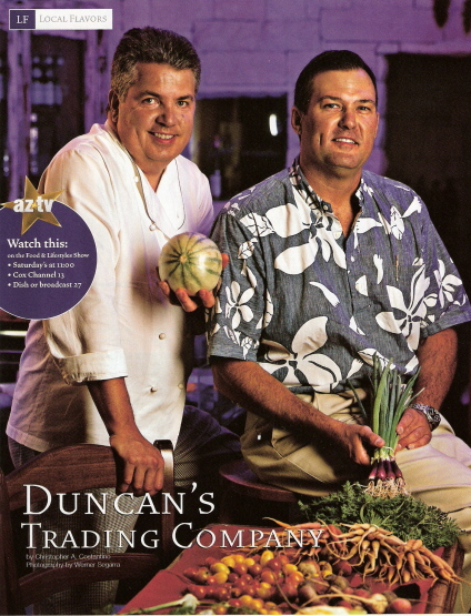Chef Vincent Guerithault with Pat Duncan